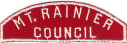 Boy Scout Rws Mt. Rainier / Council Red And White Full Strip 100/62 Rated 11