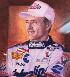 Nascar Mark Martin Original Painting By Jim Connelly