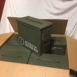 6 PACK FAT 50 CAL FAT / TALL AMMO CANS GOOD CONDITION PA19