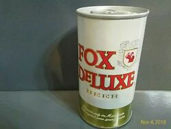 Old Vintage Fox Deluxe Beer Steel Can Straight Pull Tab Cold Springs Brewing