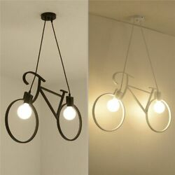 Iron Craft Bicycle Chandelier Kitchen Loft Bedroom Ceiling Light Home Creatives