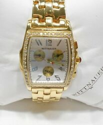 Wittnauer Watch, Goldtone, Diamond Watch, Or8515 Swiss Made 2547, 120th Annivers