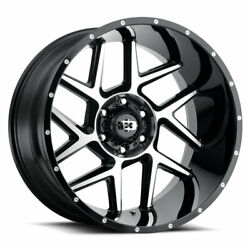 Vision 360 Sliver 24x12 5x127 Offset -51 Gloss Black Machined Face Qty Of 4