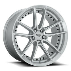 Niche Dfs M221 Rim 22x9 5x112 Offset 38 Silver And Machined Quantity Of 4
