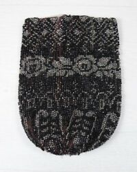 Traditional Antique Native North American Beaded Handmade Beadwork Bag Pouch