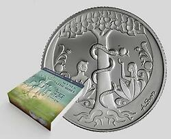 Israel Coin And Medal 2015 Bible Story Adam And Eve Art Proof Silver Medal Unc