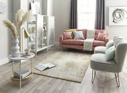 Wool Blend Elegant Modern Cream Grey Gold Colours Superior Quality Area Rugs