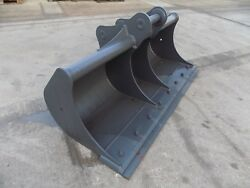 MILLER 84INCH/ 7FT DITCHING BUCKET WITH BLADE ON 80 MM PINS/FREE UK DELIVERY INC