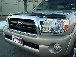 Bug Shield And Tape-on Deflectors For A 2005 - 2011 Toyota Tacoma Standard Cab