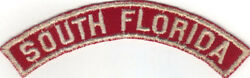 Boy Scout South Florida Council Red And White Half Strip 1/2rw