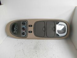 2000 2001 2002 FORD EXCURSION OVERHEAD CONSOLE REAR CLIMATE TAN BROWN (P5047)