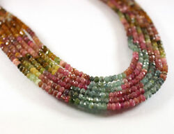 50 Strands Lot AAA Multi Tourmaline Gemstone Faceted Beads 3-4mm 13'' Long
