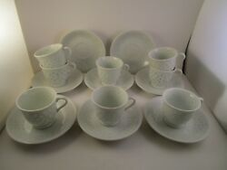 Vintage Unmarked Made In China Rice Set Of 8 Demitasse Cups And Saucers