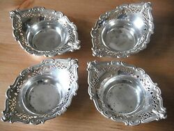 Matching Set Of Four Silver Sweetmeat Dishes, Sheffield 1927, Cooper Brothers