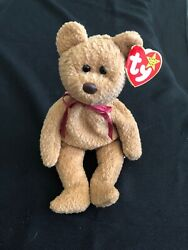 """Rare Retired """"curly"""" Ty Beanie Baby W/tag Errors New"""