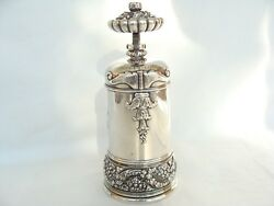 Antique C1887 And Company Sterling Silver Coffee Mill Grinder 805gr