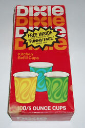 1970and039s Dixie Cups Box With Free Pillsbury Funny Face Pack Inside