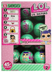 Lol Surprise Series 2 Wave 2 Little Lil Sisters Full Box Case Of 24 Balls