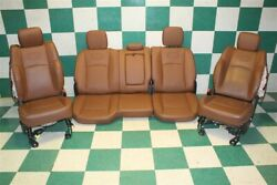 16' Ram Longhorn Brown Leather Dual Power Heated Cooled Seats Backseat Skins OEM