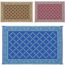 Camping Reversible Mat 6x9and039 9x12and039 Area Rugs Trailer Outdoor Patio Rv Accessories