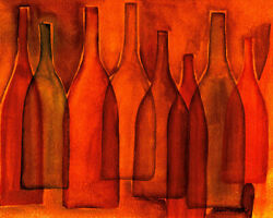 Colored Red Bottles