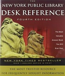 NEW YORK PUBLIC LIBRARY DESK REFERENCE **BRAND NEW**