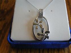 Nib Necklace Genuine Clear Fancy Blue And Yellow Diamonds