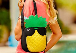 NWT VICTORIA#x27;S SECRET PINK PINEAPPLE SUNGLASSES BEACH COOLER LUNCH BAG LOGO TOTE $28.49