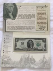 United States Currency 1976 2- Dollar Notes From All 12- Districts