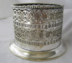 Vintage 1920and039s Scottish Silverplate Champagne Bottle Holder