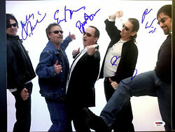 Blue Oyster Cult-all 5 Membersautographed Signed 11x14 Photo Psa/dna Loa Rare