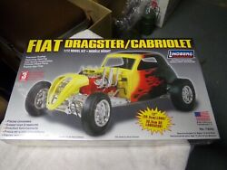 Detailed New 1/12 Scale Fiat Dragster 12 Model Kit