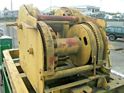Little Yellow Double Drum Pile Driving Winch Id-451