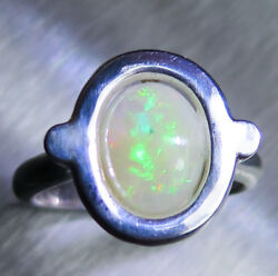 1.90ct Natural Welo Opal 925 Silver 9ct 14k 18k Gold Platinum Engagement Ring