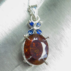9.5cts Natural Sphalerite And Sapphires 9ct 14k 18k Yellow White Gold Pendant