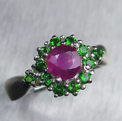 0.8cts Natural Ruby Pink 925 Silver 9ct 14k 18k Gold Platinum Engagement Ring
