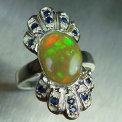 2.45ct Natural Welo Opal 925 Silver 9ct 14k 18k Gold Platinum Engagement Ring