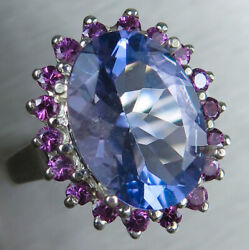 6.35ct Natural Colour Change Fluorite Sterling 925 Silver / Gold / Platinum Ring
