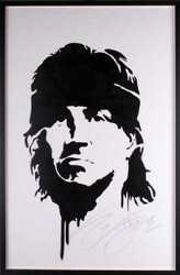 Sylvester Stallone John Rambo Autographed Original Stencil Only 25 Made Painting