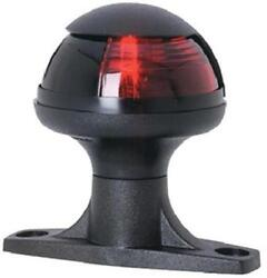 Attwood Pulsar Raised Base Sidelight Red 1 Nautical Mile Black Cover - 5080r7