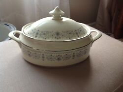 Rare Minton Beaumaris Oval Covered Vegetable Dish Discontinued Lovely Find