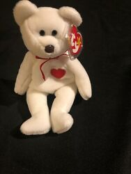"""Ty Beanie Baby """"valentino"""" W/tag Errors, Brown Nose, Pvc, New, Mwmt"""