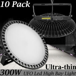 10X 300W UFO LED High Bay Light Warehouse Industrial Commercial Lighting Lamp