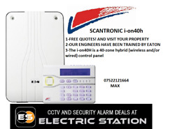 Scantronic I-on40h Burglar Alarm Wireless And Wired Supply And Fit Ion40h 30h