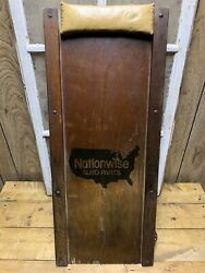 Vintage Nationwise Autoparts Creeper Mechanics Old Car Truck Motorcycle Wooden