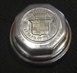 Cadillac Standard Of The World Wheel Center Rim Grease Cup Cap Hub Cover Chrome