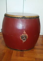 Collectible Hand Made Large War Drum - Beating Drum - Martial Arts Drum