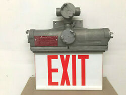 New Cooper Crouse-hinds Exld21a Wall Mounted Single Face Exit Sign 120vdc