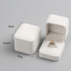 200x Diamonds Rings Pearly White Jewel Case Diamond Fiancee Engaged Ring Boxes