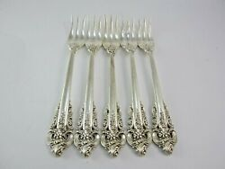 Lot Of Five Wallace Pickle/olive Forks 5-1/2 Not Monogrammed